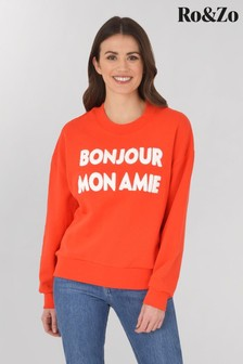 Ro&Zo Red Slogan Sweatshirt