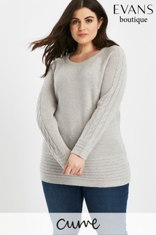 Evans Grey Cable Jumper