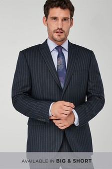 Tailored Fit Stripe Wool Blend Suit
