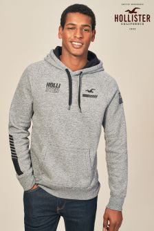 Hollister Grey/Black Colour Block Hoody