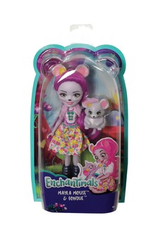 Enchantimals Mayla Mouse Doll 6 Inch and Fondue Animal Figure