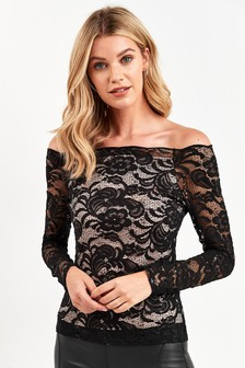 Lace Bardot Top