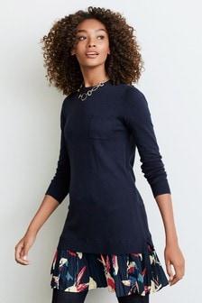 Woven Hem Dress