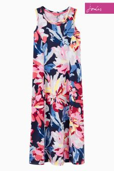 Joules Navy Whistable Floral Rosa Print Dress