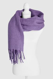Whistles Lilac Open Weave Scarf