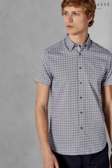 Ted Baker Modmo Dot And Circle Print Short Sleeve Shirt