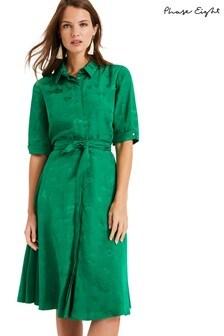 Phase Eight Green Keris Shirt Dress