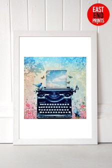 The Poets Garden Framed Print by East End Prints