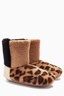 Faux Fur Patch Boots