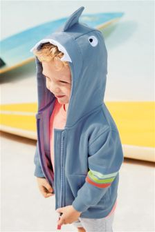 Shark Zip Through Hoody (3mths-6yrs)
