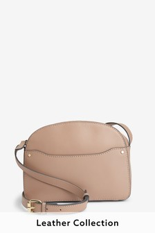 Leather Dome Shaped Across-Body Bag