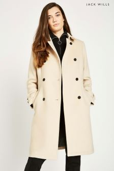 Jack Wills Stone Atwater Wool Blend Trench Coat