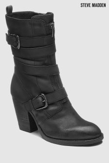Steve Madden Leather Yens Buckle Boot