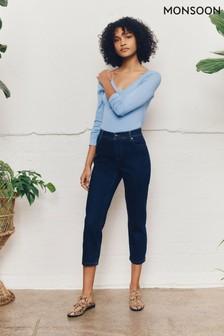 Monsoon Blue Idabella Crop Jeans with Organic Cotton