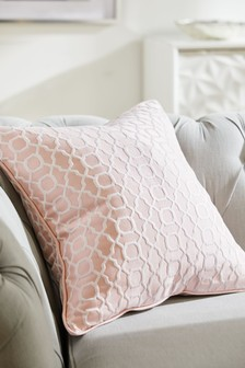 Woven Geo Jacquard Cushion