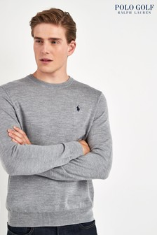 Polo Golf by Ralph Lauren Grey Crew Jumper