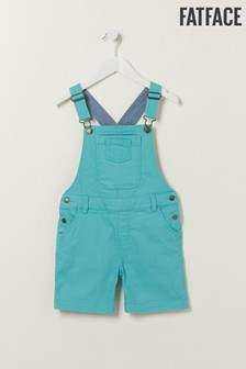 FatFace Blue Coloured Shortie Dungarees