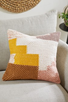 Tufted Abstract Blocks Cushion