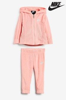 Nike Infant Pink Velour Tracksuit