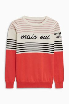 Mais Oui Slogan Sweater