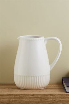 Scalloped Ceramic Jug