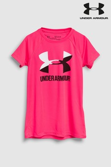Under Armour Pink Logo Tee
