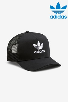 adidas Originals Adult Black Trucker Cap