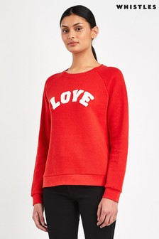 Whistles Red Love Logo Sweat