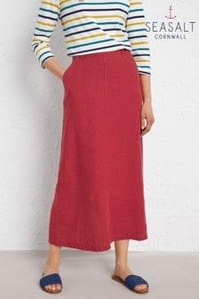 Seasalt Petite Red Landscape Artist Skirt