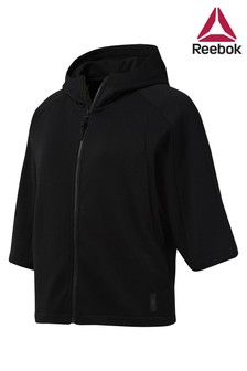 Reebok Black Training Supply Zip Through Hoody