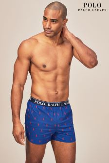 Polo Ralph Lauren Blue All Over Pony Print Woven Boxer