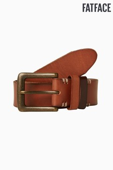 FatFace Brown Italian Leather Colour Block Belt
