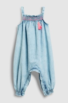 Snow Wash Tassel Playsuit (3mths-6yrs)