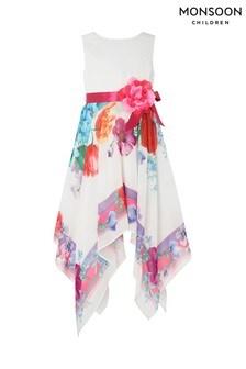 Monsoon Ivory Bonita Scarf Print Dress