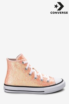 Converse Youth Glitter Chuck High Trainers