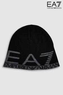 Emporio Armani EA7 Black Visibility Beanie