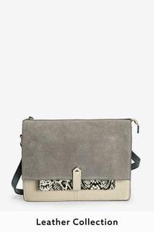 Leather Utility Detail Shoulder Bag