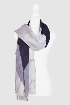 Schal in melierten Blockfarben