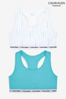 Calvin Klein Girls Modern Cotton Bralettes Two Pack