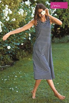 Joules Hope Stripe French Navy Rosa Print Dress