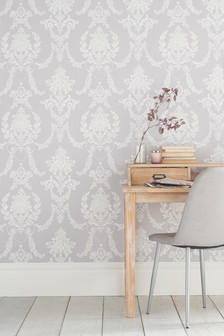 Paste The Wall Delicate Damask Wallpaper