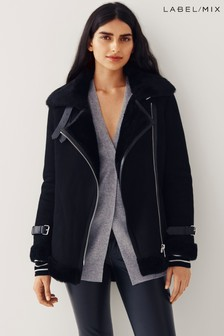 Mix/Lab Shearling Jacket