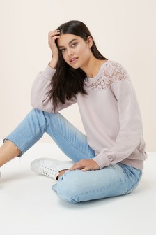 Lace Detail Sweat
