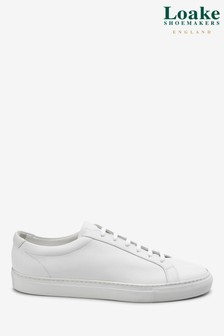 Loake White Leather Trainer