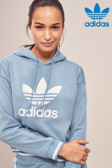 adidas Originals Blue Crop Hoody