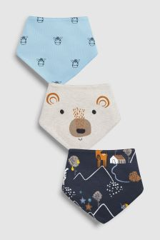 Woodland Character Dribble Bibs Three Pack