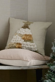 Textured Tufted Tree Cushion