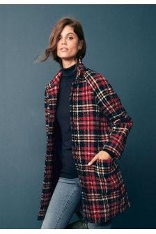 Manteau à motif écossais