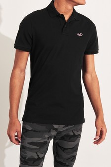Hollister Black Basic Poloshirt