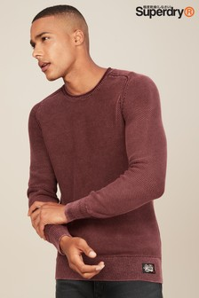 Superdry Garment Dye Textured Jumper